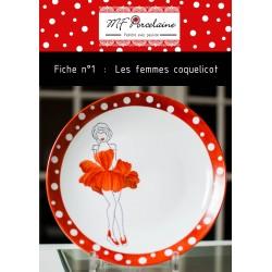 "Fiche n°1 - Femmes ""coquelicots"""