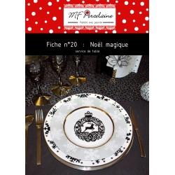 Fiche n°20 - Noël Magique - SERVICE DE TABLE