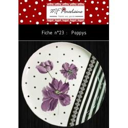 Fiche n°23 - poppys -  Télechargeable