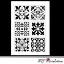 "35b - Sticker ""MOSAIQUES BAROQUES"" - motifs GRANDS"