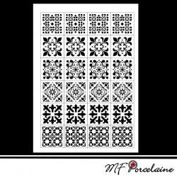 """Sticker """"MOSAIQUES BAROQUES"""" - motifs PETITS"""