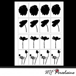 Sticker Silhouette de coquelicots 2