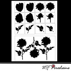 Sticker Silhouette DAHLIAS