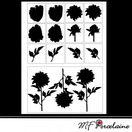 Sticker Silhouette DAHLIAS