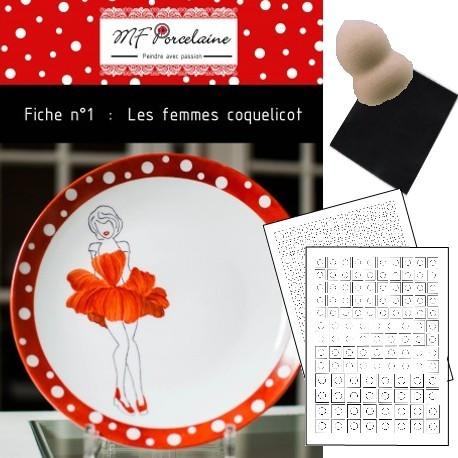 Kit n°1 - Les femmes coquelicot