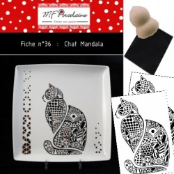 KIT n° 36 - Le chat Mandala